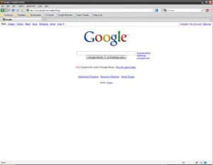 Google Home Page in Firefox