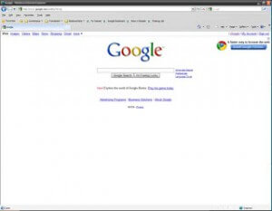 Google Home Page in IE8
