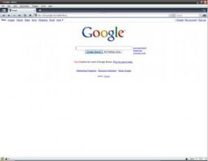Google Home Page in Opera