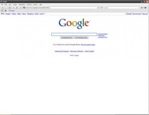 Google Home Page in Safari